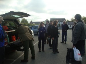Members of the NSG assemble for the first day of their trip around Pembrokeshire.