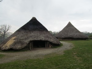 Castell Henllys -  reconstruction Iron Age round houses